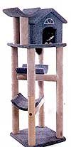 Tabby's Treehouse - grey - Cat Furniture Scratching Post with Sisal