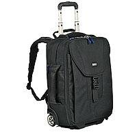 "Think Tank Airport Takeoff Check In, Rolling Backpack for 2 Pro DSLR Cameras with / without Lenses & up to a 300mm Lens, 15"" Laptop & More"