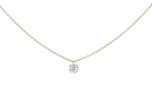 La Brune et La Blonde La La Brune et Blonde 360° Anhänger Brilliantschliff Diamanten 0,50ct ca. über eine 18-Karat-Gold-Halskette