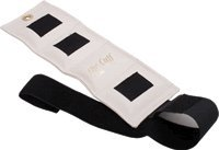 ANKLE WEIGHT CUFF, VINYL OUTER FABRIC, VELCRO CLOSURE, CONTAINS METAL PELLETS, WHITE, 1/4LB