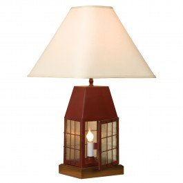 "Sturbridge Lantern Lamp 30"" Tall Red 30""H Large"