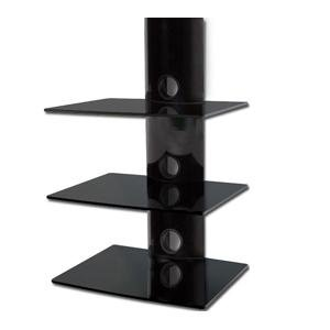 Mount Pros Wall Mounted Black 3 Tier Glass Component