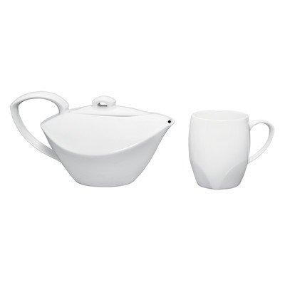 Dansk Classic Fjord Porcelain Tea Set For One, White