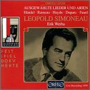 Leopold Simoneau - Selected Lieder And Arias ~ Handel · Rameau · Haydn · Duparc · Fauré