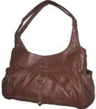 Concealed Carry Purse - Top Grain Rich BROWN Leather - Locking Left and Right-Hand CCW Compartment