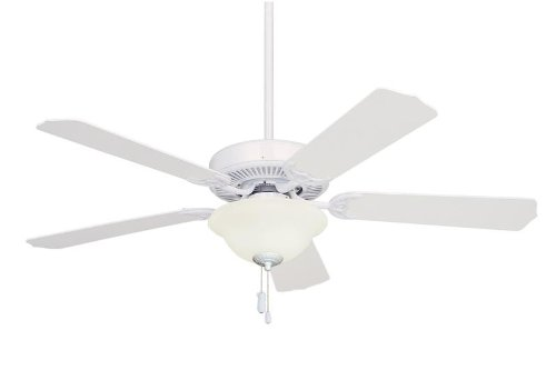 Builder Unipack Ceiling Fan and Light Kit in Appliance White