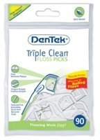dentek-triple-clean-floss-picks-mint-90-ea-by-dentek