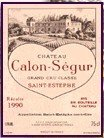 Chateau Calon-Segur St. Estephe 1996 750Ml