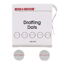 KOH25900 - Adhesive Drafting Dots,7/8 Diameter,500/BX White - Buy KOH25900 - Adhesive Drafting Dots,7/8 Diameter,500/BX White - Purchase KOH25900 - Adhesive Drafting Dots,7/8 Diameter,500/BX White (Koh-I-Noor, Office Products, Categories, Office & School Supplies, Education & Crafts, Teaching Materials, Drafting Tools & Kits)