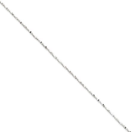 Black Bow Jewellery Company : 1.2 mm, Sterling Silver, Twisted Serpentine Chain - 24 Inches