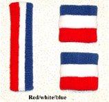 Red/White/Blue Sweatbands Set