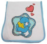 Blue Care Bears Baby Star Hugs Burp Cloth - 1
