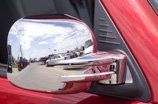 Chrome Trim Mirror Covers Overlays Fits 2009-2013 RAM 1500 Without Turn Signal, Without towing mirrors.