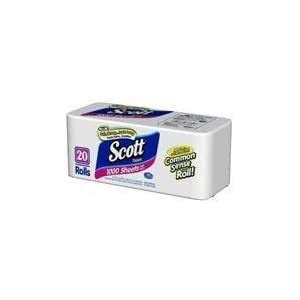 Scott Toilet Paper, 1000 One-Ply Tissues - 20 Rolls