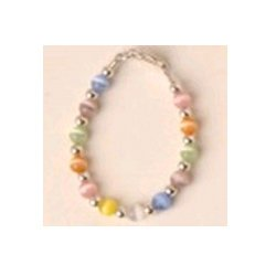 Multi Color Beaded Baby Bracelet - Size 4 inches