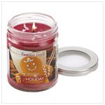 Gingerbread Scented Glass Jar Soy Wax Holiday Candle