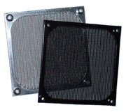 120mm Aluminum Fan Filter Grill Black