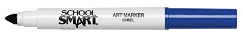 School Smart Chisel Tip Watercolor Marker - Set of 12 - Blue - 1