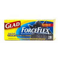 Glad Force Flex Large Trash, Quick-Tie, 30 Gallon 28 ea