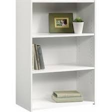 Sauder Beginnings 3-Shelf Bookcase White back-861547