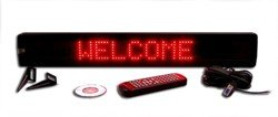 Single Line Semi-Outdoor Red, Yellow, Or Blue Led Programmable Display Sign With Pc Software And Remote, Strong Quality, One Year Warranty (Red)