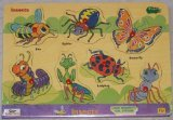Picture of Safari Peek Inside Wood Puzzle - Insects (B001NPW8HO) (Pegged Puzzles)