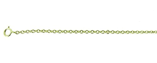 9Ct Yellow Gold Plain Trace Chain