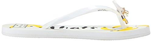 Kate spade new york Women's Nova Flip Flop, White, 6 M US
