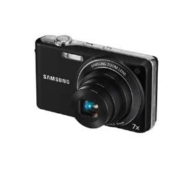 Samsung PL200 - Digital camera - compact - 14.2 Mpix - optical zoom: 7 x - supported memory: SD, SDHC - black