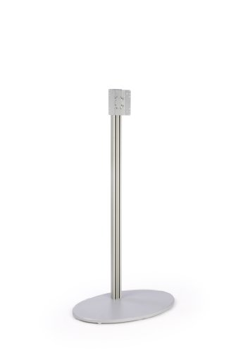 Monitor Floor Stand for a 32 to 42 inch Television, Oval MDF Base – Silver (B006YBKZWW)