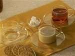Borosil Piccolo Cup and Saucer Set, 150ml, Set of 6