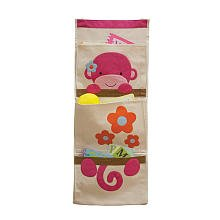 Lambs & Ivy Wall Organizer, Pink Monkey (Discontinued by Manufacturer)
