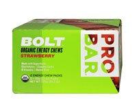 ProBar Bolt Organic Energy Chews Gluten Free Strawberry -- 12 Pouches