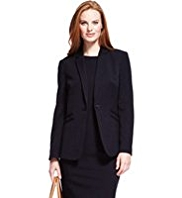 M&S Collection Notch Lapel Double Welt Pocket Jacket