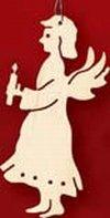 Kunsthandwerkstube Taulin Erzgebirge Engel mit Kerze d = ca. 6 - 7 cm
