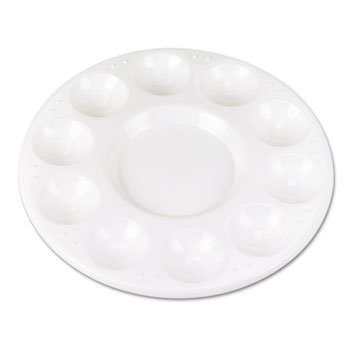 3 Pack Round Plastic Paint Trays for Classroom, White, 10/Pack by THE CHENILLE KRAFT COMPANY (Catalog Category: Paper, Pens & Desk Supplies / Art & Drafting / Supplies Organizers)