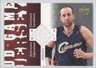 Zydrunas Ilgauskas Cleveland Cavaliers (Basketball Card) 2006-07 Upper Deck UD Game Jersey #ZI Amazon.com