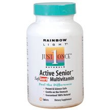 Rainbow Light Just Once Active Senior SafeGuard Multivitamin Tablets 90 tablets ( Multi-Pack)