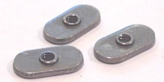 10-24 Tab Weld Nuts / No Projections / Center-Hole Design / Steel / Plain / 1,000 Pc. Carton