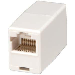 InstallerParts RJ45 Modular Inline Coupler Straight, White