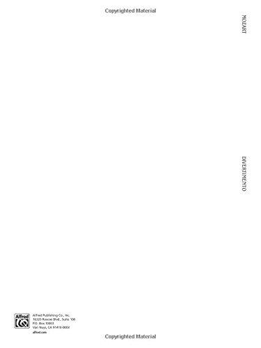 Divertimento in E-Flat Major, K. 563 (Kalmus Edition)