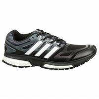 adidas Men's Response Boost Techfit M Running Shoe, Core Black/Metallic Silver/Dark Orange, 10.5 M US