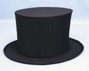 Adult Black Collapsible Costume Top Hat