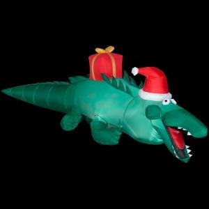 Christmas decoration lawn yard inflatable for Alligator yard decoration