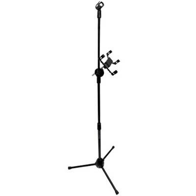 Seismic Audio - Satab8 - Ipad And Microphone Adjustable Stand - Works For Most Tablets, Android, Samsung, Galaxy, Etc