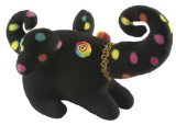 Laid Back Plush Elephant, Black Polka Dot
