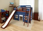 Maxtrix Twin Mid Loft Bed w. Angle Ladder and Slide