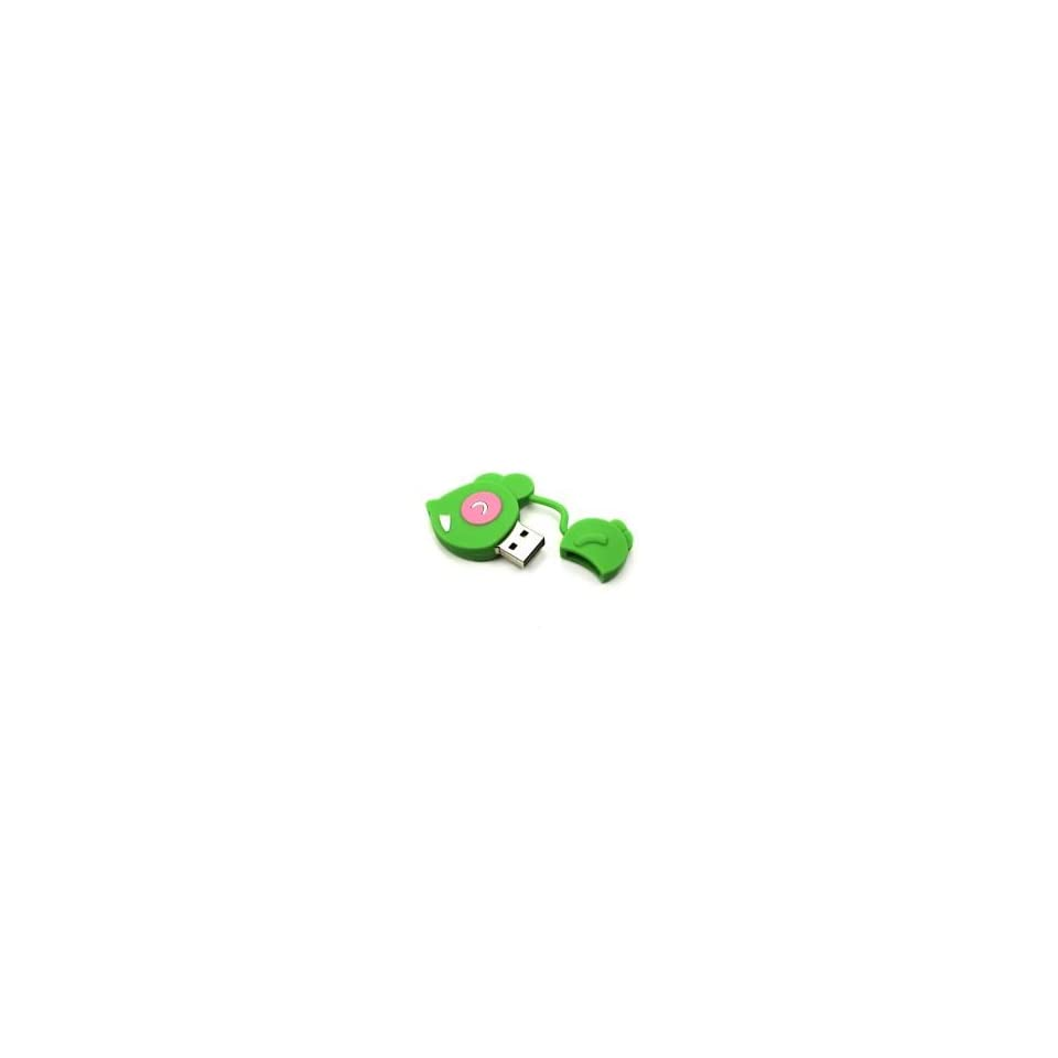 8GB Color Mouse Shaped Cartoon USB Flash Drive Green