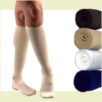 Activa Womens Dress Socks Light Compression 15-20 mm Hg. Medium. White