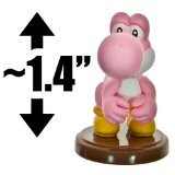 "Yoshi [Pink] ~1.4"" Mini Figure [New Super Mario Bros. Wii Choco Egg Series - NO CANDY] (Japanese Import) - 1"